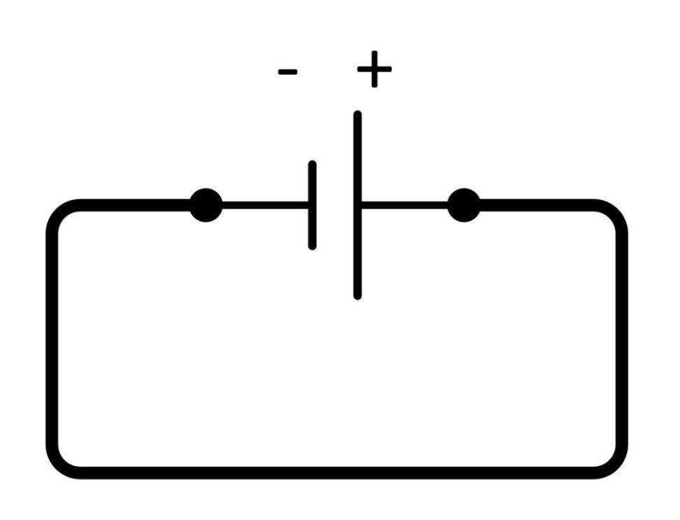 Stromfluß einer Batterie