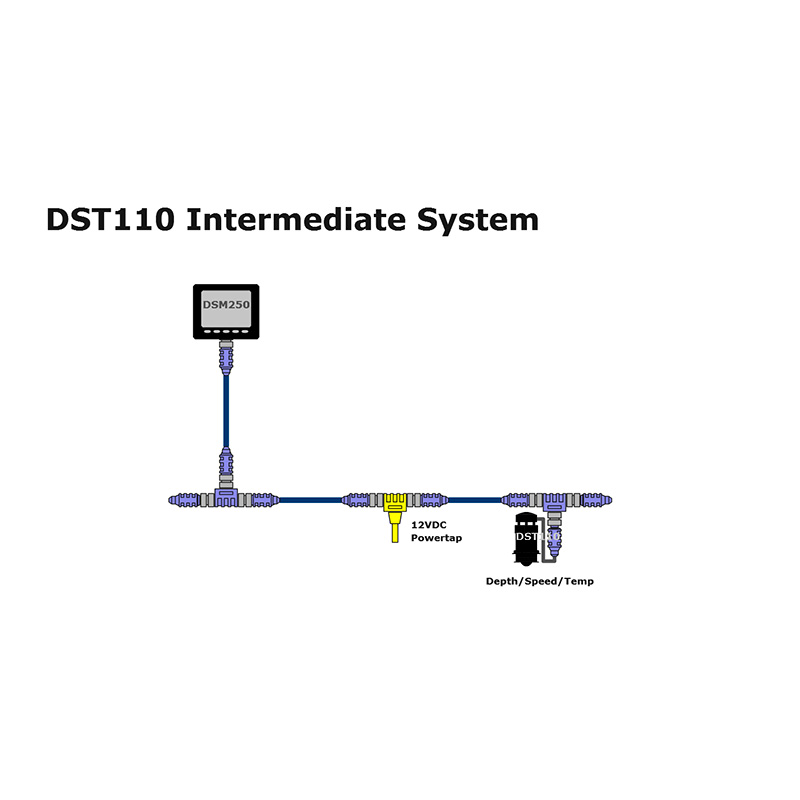 DST110-01 Depth/Speed/Temp. Triducer