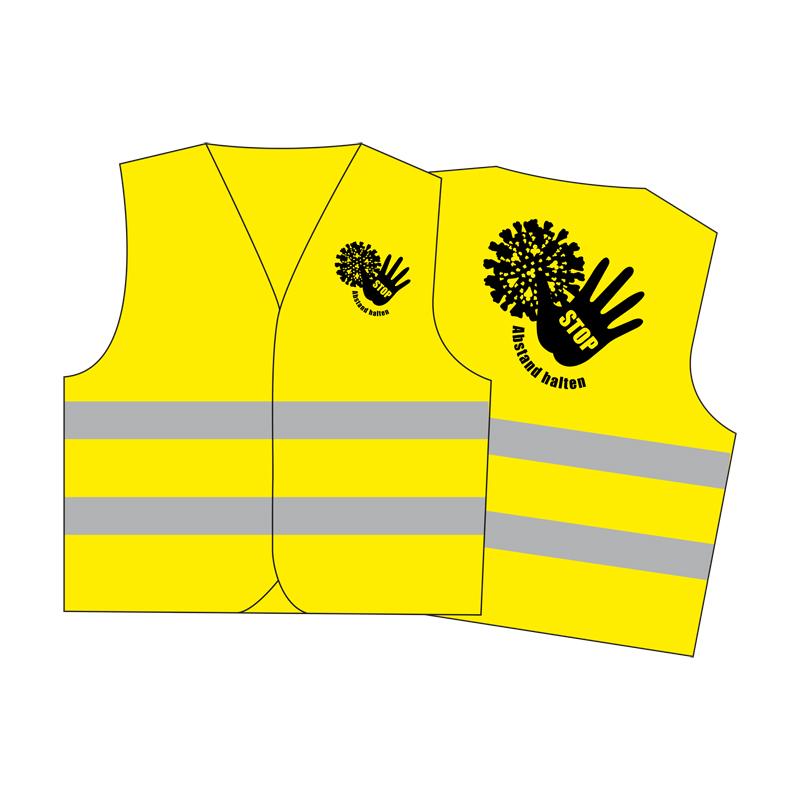 """Corona-Warnweste """"Gelb"""""""