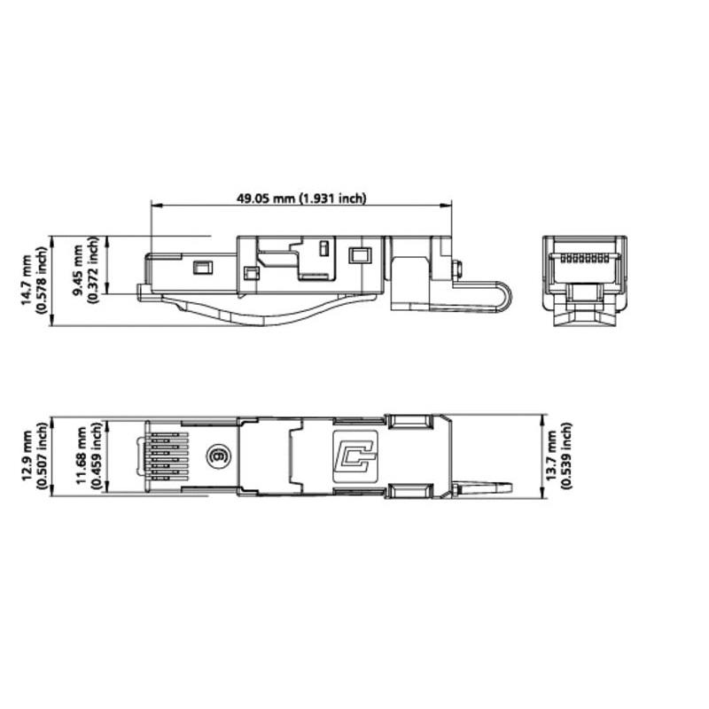 Ethern. RJ45 plug Industry IP20 RJ45 field plug